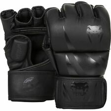 Venum Gloves MMA Challenger Gloves Matte Black 4oz Fight Training Gloves MMA