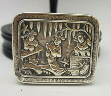 ANTIQUE CHINESE EXPORT SOLID SILVER SNUFF BOX  34.5 G.
