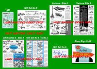 Corgi Toys Rocket Age Gift Set Set of Instruction Leaflets & Poster Shop Sign