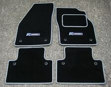 Car Mats in Black/Grey Trim to fit Volvo S40/V50 (2004-2012) + R Design Logos