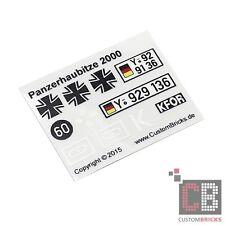 S0053CB Sticker Decals Bundeswehr Panzerhaubitze 2000