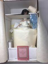"16"" Franklin MInt Jackie Kennedy Wedding Doll With Doll Stand. NRFB"