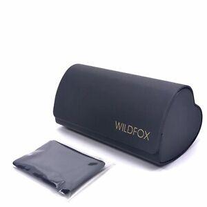 WILDFOX Empty Case for Sunglasses + Cloth, Black Heart Shaped