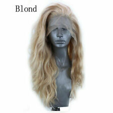 New Womens Ladies Wavy Long Wave Wig Mix Synthetic Lace Front Hairpieces Cosplay