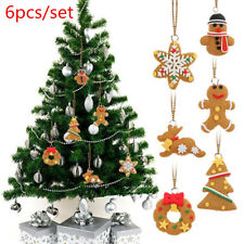 Christmas Tree Ornament Decoration Hanging Small Snowflake Snowman 6 PCS/set HS