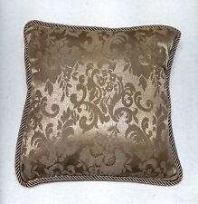 Victoria Classics Throw Pillow 2pc Set New 'Monaco' Taupe Elegant Paisley Design
