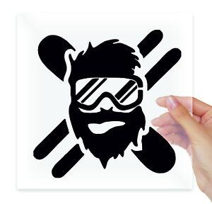 Skier Snowboard Vinyl Stickers Decals Laptop Macbook Moto Car Auto Tablet Wall