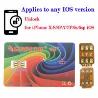 New Unlock Turbo Sim Card For iPhone XS XR X 8 7 6 6S Plus 5/5S SE LTE 4G GPP