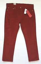 Levis 511 Slim Pants Mens Size 38x30 Red Corduroy Stretch Jeans