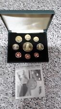 GUADELOUPE  2005  - 9 COIN EURO PROTOTYPE PATTERN PROOF SET - FREE UK P&P