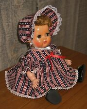 """New listing Adorable New Made 11"""" Tiny Tears Patriotic Doll Outfit Dress and Bonnet"""