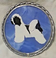 "6"" Tibetan Terrier Dog Glass Hanging Suncatcher Ornament"