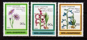 ALBANIA Sc 2307-9 NH ISSUE OF 1989 - FLOWERS