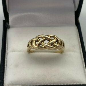 9ct Gold Hallmarked Celtic Design Ring.  Goldmine Jewellers.
