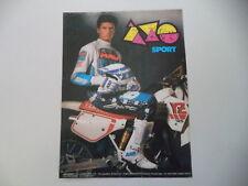 advertising Pubblicità 1989 AXO' e MOTO YAMAHA YZ 125