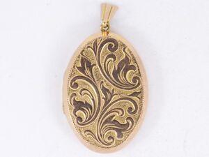 Locket Pendant 9ct Rose Gold Stunning Ladies Vintage 375 P36