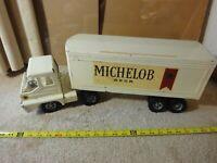 Rare! Vintage Structo pressed steel Michelob Beer semi truck, tractor trailer.