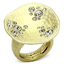 Brass fashion Cocktail women ring. Color gold. Size 8.Free USA shipping.
