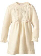 $304 NEW Blumarine Baby Girls Ivory Cashmere Knit Dress Crystals Gold 12 Months