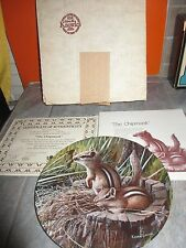 """"""" The Chipmunk """" Friends of the Forest Collection Plate Kevin Daniel w/ Coa Box"""