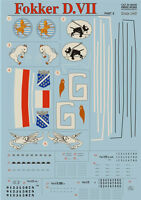 Print Scale 48-026 - 1/48 Decal for Fokker D VII Part 2