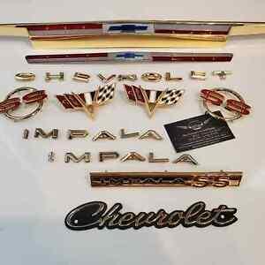 1964 Chevrolet ImpalaSS 24kt Gold Plated Emblem Kit