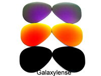 Galaxy Replacement Lenses For Ray Ban RB3025 Aviator Black&Red&Purple 62mm 3Pair