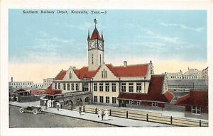H32/ Knoxville Tennessee Postcard c1915 Southern Railway Railroad Depot 4
