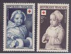 France B264-65 Mint OG 1951 Child at Prayer & 18th Century Child Paintings Set