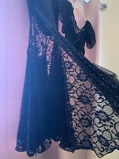 Belly dance/Bollywood Black lace mermaid style skirt and choli top