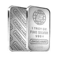 1 oz Engelhard Silver Vintage Bar .999 Fine