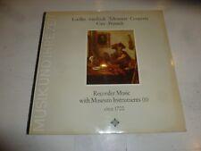 RECORDER MUSIC WITH MUSEUM INSTRUMENTS - No 2 - German Vinyl LP