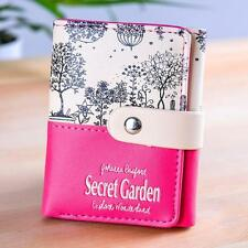 Women Secret Garden Coin Purse Short Wallet Card Holders Handbag E2