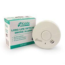 Kidde 10 Año incorporado Batería óptico Humo Incendio Alarma Detector 10y29 CE