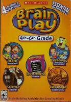 Scholastic Brain Play 4th-6th Grade PC 4 CD-Roms & Workbook