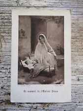 IMAGE PIEUSE ANCIENNE : Le Sommeil de l'Enfant Jésus - 1922