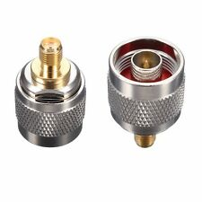 N Type Male Plug to SMA Female Jack RF Coaxial Adapter Connector Converter Kit
