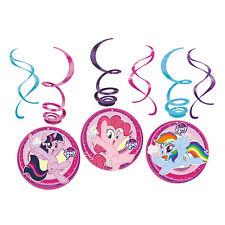 6 x My Little Pony Hanging Swirls Childrens Birthday Party Decorations