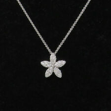 NYJEWEL Chimento Brand New 18k White Gold Lovely Floral Diamond Pendant Necklace