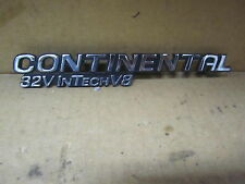 "LINCOLN CONTINENTAL 95-97 1995-1997 EMBLEM CHROME "" CONTINENTAL 32V INTECH V8 """