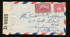 Venezuela - WWII Censored Cover Mailed To Los Angeles CA, Dated 1942.