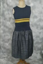 HOBBS NW3 BNWOT Tank Top in Navy, and Yellow and Burgundy Stripes in Size 10