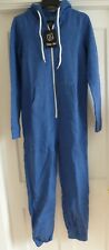 Girls / Ladies Blue Size M/L Urban Diva Jumpsuit Hooded Bodysuit One-Piece~ BNWT