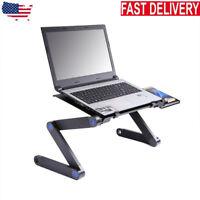 360° Adjustable Folding Laptop Desk Table Lap Bed Computer Desk Tray Stand Black