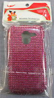 ZTE AVID 4G N9120 PINK FULL DIAMOND BLING 2 PIECE PROTECTIVE CASE COVER NWT