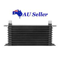 Universal Transmission Oil Cooler Kit Black Racing 10 Row 10AN Aluminum Engine