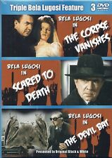 Bela Lugosi Triple Feature: Corpse Vanishes/Scared To Death/Devil Bat NEW 3-DVD