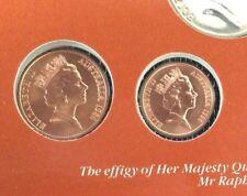 1986 2 cent and 1 cent UNC ex Mint Set