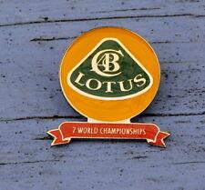 Pin's Lotus, 7 fois champion du monde