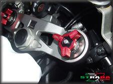 Strada 7 CNC Front Fork Preload Adjusters Suzuki GSX-R1000 SV1000 S B-King Red